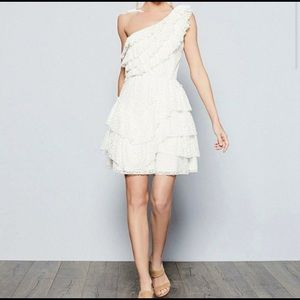 CHELSEA&VIOLET Ruffled One Shoulder Tiered Dress-L